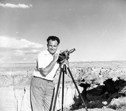Barry Goldwater and one of his favorite hobbies, photography.