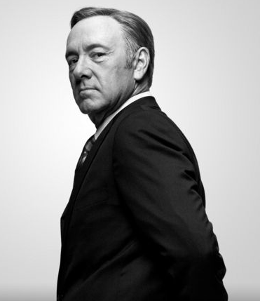 Kevin Spacey as Francis Underwood in Netflix series House of Cards