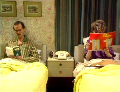Basil and Sybil in bed